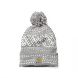 97186059305 상품명   Elias Bobble Hat Grey Heather   Snow