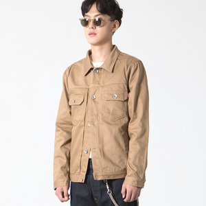 Cotton Trucker Jacket Beige (구매시 토트백증정)